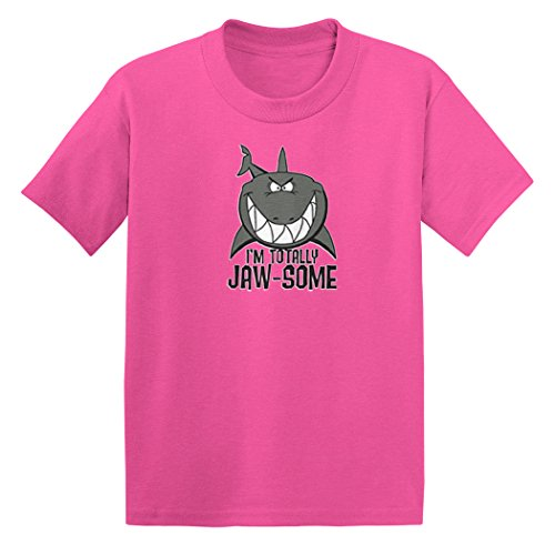 I'm Totally Jaw-Some - Shark - Toddler Little Boy/Infant T-Shirt (5T, Pink) Infant Toddler Pink Apparel