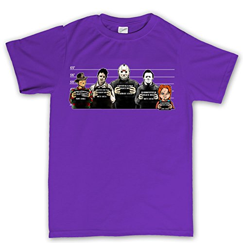 Customised_Perfection The Usual Horror Suspects Halloween T Shirt PRL S