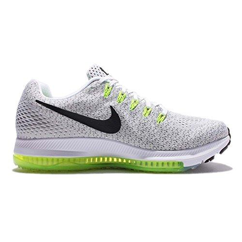 Nike Womens Wmns Zoom Tutto Basso, Bianco / Nero-volt, 6 M Us