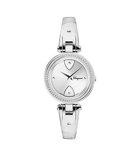 Salvatore Ferragamo Women's 'GIGLIO' Swiss Quartz Stainless Steel Casual Watch, Color:Silver-Toned (Model: FIW040017)
