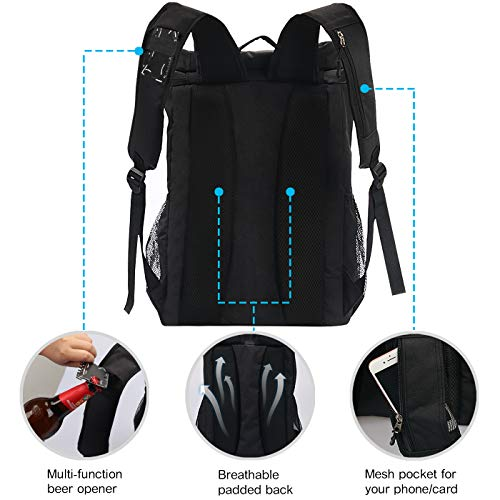 5f138965188d SEEHONOR Insulated Cooler Backpack Leakproof Soft Cooler Bag ...