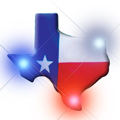 - Light Up Texas Flashing Blinking LED Body Light Lapel Pins (25-Pack)