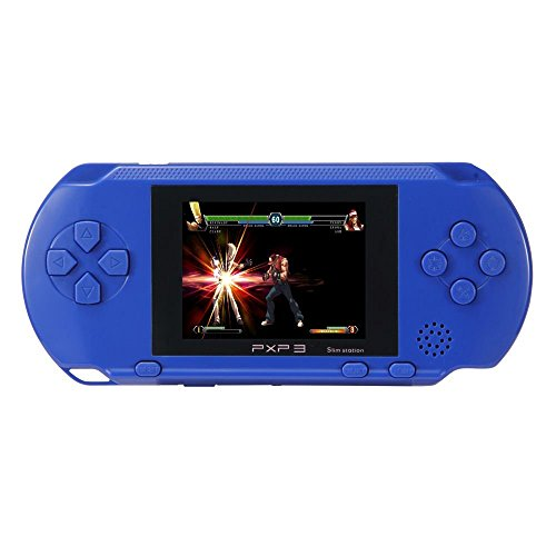 JouerNow Blue PXP 3 Handheld Portable LED Game Console Slim Station,16 Bit Retro Video,2 Extra Cartridge,150+ Games,Game player toys for kids perfect (Super Sonic Costume)