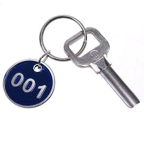 Cosmos Pack Of 30 Numbered Tags Metal Key Ring For Organizing And Sorting, Number 001 To 030