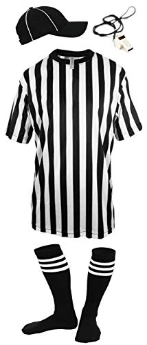 Mato & Hash Children's Referee Shirt Ref Costume Toddlers Kids Teens - RS CA2004K L-HVS-W-SY ()