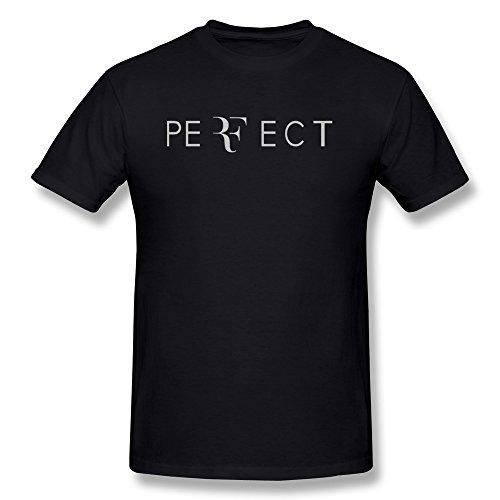 NANAN Roger Federer PERFECT Men's T-shirts Black M