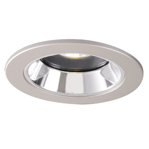 HALO Recessed 1951SNS 4-Inch Lensed Showerlight Satin Nickel Trim with Clear Specular Splay Reflector