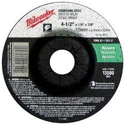 "MILWAUKEE ELECTRIC TOOL 49-94-4570 4-1/2"" x 1/4"" x 7/8"" Type 27 - Grinding Wheel"
