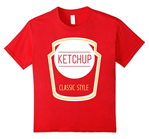 Kids Ketchup Bottle Cute Cheap Halloween Costume Matching Tee 4 Red