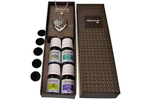 Heart Aromatherapy Diffuser Necklace Gift Set