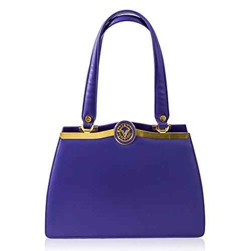 bcaff4448826 Valentino Orlandi Italian Designer Purple Calfskin Leather Satchel Purse  Handbag