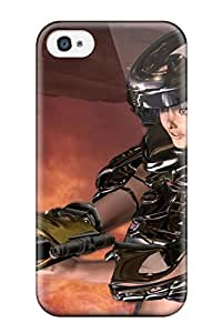 Brand New 4/4s Defender Case For Iphone (warrior Space Girl Cgi Fantasy Abstract Cgi) by lolosakes