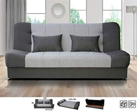 Incredible Amazing Sofas New Large Click Clack Sofa Bed Fabric With Creativecarmelina Interior Chair Design Creativecarmelinacom