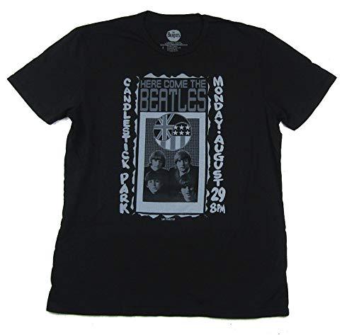Beatles Candlestick Park SF Concert Black T Shirt (L)