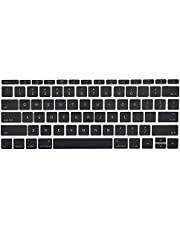 """MMOBIEL US Keyboard Key Caps Full Set Replacement Compatible with MacBook Pro Retina 13"""" 15"""" A1706 A1707 A1708 (Black)"""