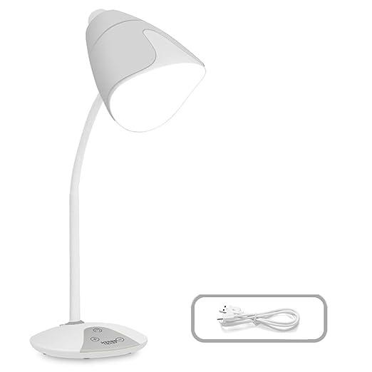 Kmgjc Lámpara de Mesa LED, lámpara de Mesa Recargable 5W, 3 ...