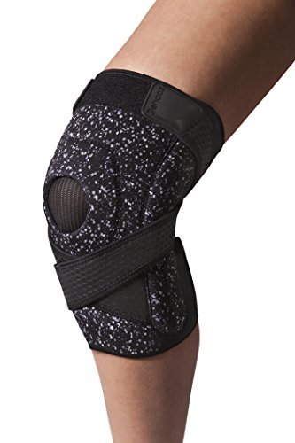 Rehabz Pro Performance Neoprene knee brace with patella stabilizing knee support, Unisex, One size fits up to 22in (measured 3in above kneecap) -