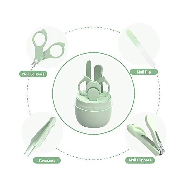 Set Manicure Neonati| Kit 4-in-1 per Baby, con Forbicine, Tagliaunghie, Lima e Pinzetta in Custodia con Gufo | Sicuro… 3