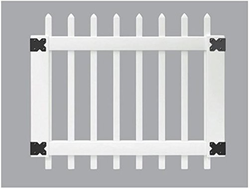 3 ft. x 3-1/2 ft. Chelsea Spaced Picket Vinyl Unassembled Fence Gate ()