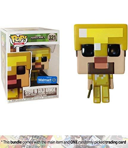 Funko Steve in Gold Armor POP Games Minecraft Vinyl Figure 321]()