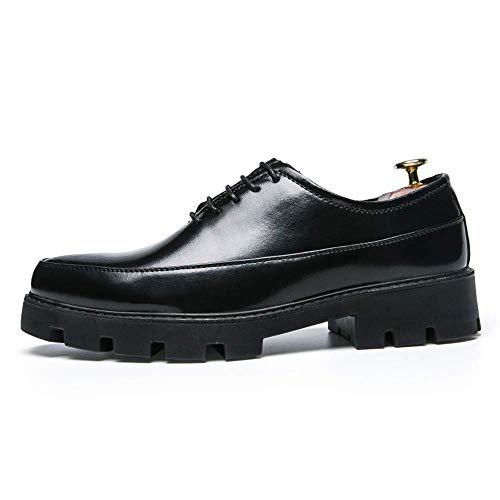 Hombres Zapatos 2018 color Hombre Gold Claro Para Tamaño Eu Negro Tamaño 38 Impermeables Light Formales Dorado Gruesos Charol Color 40 De Negocios Ue vYq8vrwz