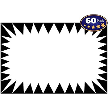 Retail Genius Price Burst 60 White Sign Pack Boost Sales With Bright Display Tags Durable Easy To Write On Star Cards Are For Yard Estate Garage Sale