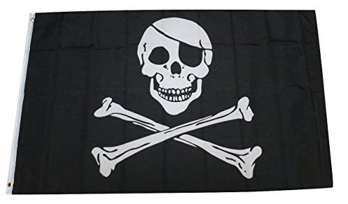 TrendyLuz Flags Pirate Jack Skull Bones Jolly Roger 3x5 Feet Flag ()