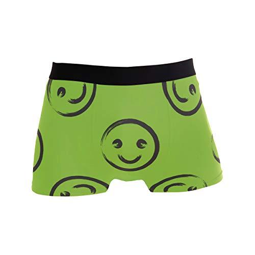 (Men's Underwear Smiley Face Men Boxer Briefs Comfort Soft Boxer Briefs)