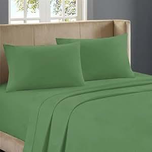 800 TC 100% Egyptian Cotton Duvet Set Solid ( Queen,Moss)