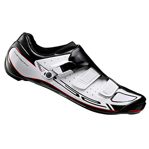 Shimano 2016 Herren Pro-Tour WIDE Racing Custom-Fit Rennrad Schuhe - SH-R321WE Weiß