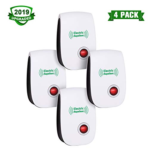 VEPOWER 2019 Upgraded Ultrasonic Electronic Repellent, Pest Control Repeller Plug in Indoor Usage, Best Pest Controller to Bugs, Insects Mice, Ants, Mosquitoes, Spiders, Rodents and Roach(4 Packs) ()