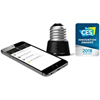 Anyware Smart Adaptor – Your All-in-One Smart Home System in ONE Connected Device for Peace of Mind, Home Security and Remote Monitoring! Converts E26 to E12 (Candelabra) LED light bulbs