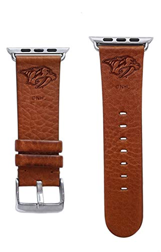 (Game Time Nashville Predators Premium Leather Band Compatible with Apple)