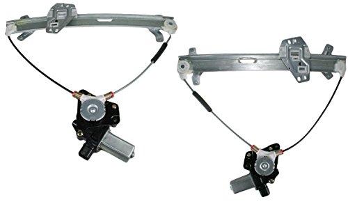 POWER Window Regulators w/ Motor Pair SET for 03-07 Honda Accord Coupe 2 Door (2004 Honda Accord 2 Door)