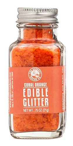The Gourmet Baking Company Coral Orange Edible Glitter .75oz Jar