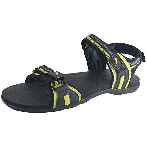Puma Men Black Yellow Sports Sandal Nova Mu Idp Size 10 UK