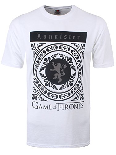 Game of Thrones Men's Lannister Crest GoT T-shirt White