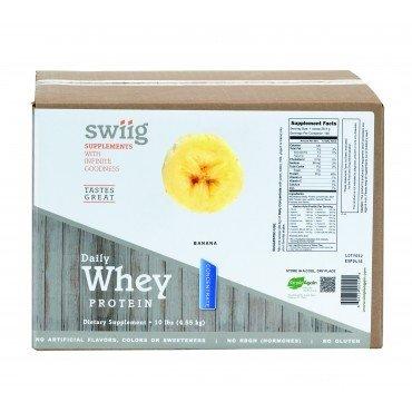 swiig Banana Daily Whey Concentrate - 10lb (Banana Whey Matrix)