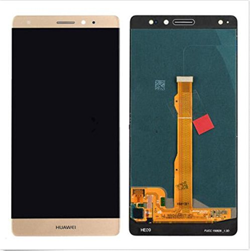 Price comparison product image New Gold Huawei Mate S Touch Digitizer Glass+Lcd Display Screen Assembly
