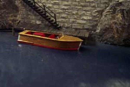 (Osborn Models HO 21' CLASSIC MAHOGONY RUNABOUT Real Mahogony Wood EZ Assembly Kit New #RRA1001)