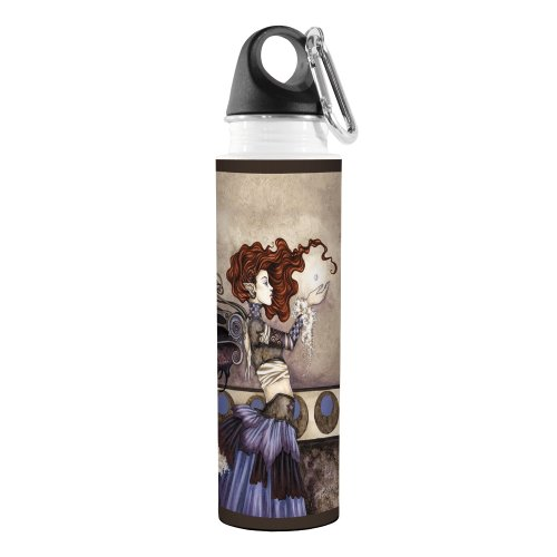 Tree-Free Greetings VB47576 Amy Brown Fantasy Artful Traveler Stainless Water Bottle, 18-Ounce, Singular Wish Fairy (Water Fairy compare prices)