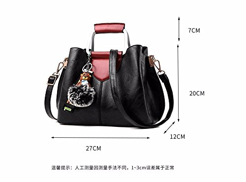 Soft Vintage Wristlet Clutch Mujer Hombro Large Capacity Pequeo Body Leather Red Casual Oxblood PU Hombro Bolsillos Cross Shoulder con gray para Bags Muchos 6rdndY
