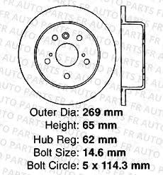4 Ceramic Pads 5lug Rear Kit ES330 Camry ES300 2 Black Coated Cross-Drilled Disc Brake Rotors High-End