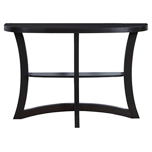 Monarch Two Tier Hall Console Accent Table, 47″, Cappuccino