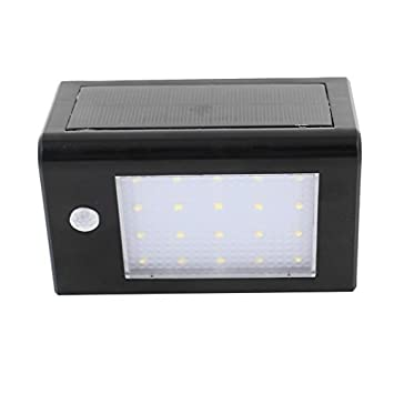 DealMux Motion Sensor Solar Power Light Recados 20 LEDs de economia de energia Waterproof Outdoor Lâmpadas