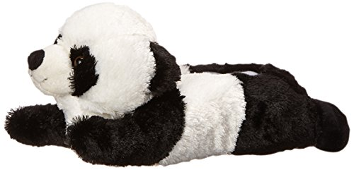 - Adult M Size Unisex Black White Panda Animal Plush Fuzzy Slippers