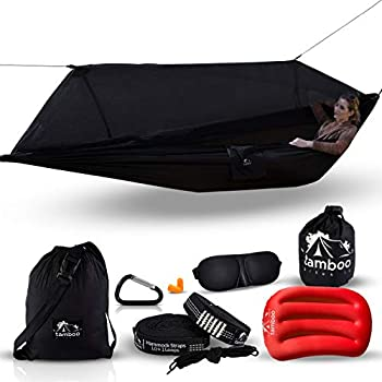 Tamboo Camping Hammock with Mosquito Net - Double Hammock for Outdoors