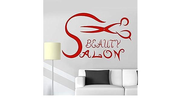 yiyiyaya Salón de Belleza Tatuajes de Pared Tijeras de Pelo ...