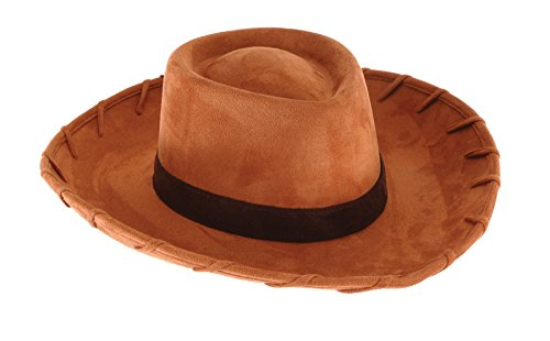 [UHC Toy Story Deluxe Woody Cowboy Hat Adult Halloween Costume Accessory] (Woody Costume Hat)