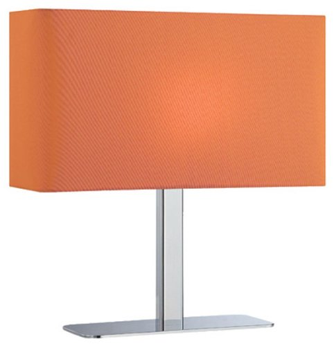 Lite Source LS-21797C/ORN Levon Table Lamp with Orange Fabric Shade, Chrome